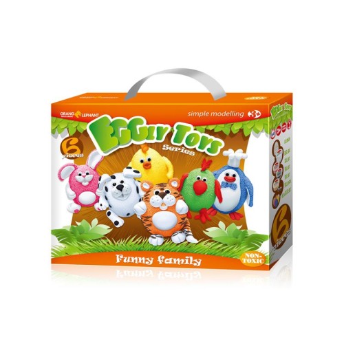 Set creatie pentru modelaj Orange Elephant, Funny Family