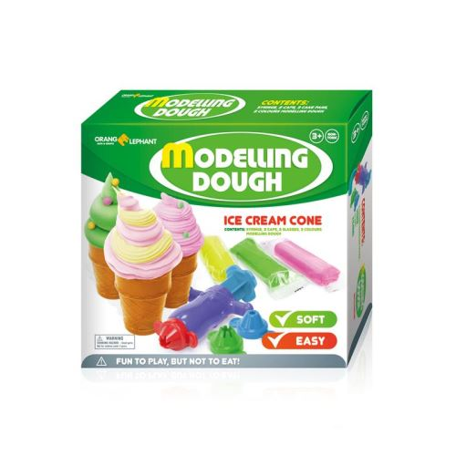 Set creatie pentru modelaj Orange Elephant, Ice Cream Cone