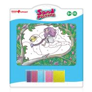 Set pictura cu nisip Orange Elephant, Fairy Bird